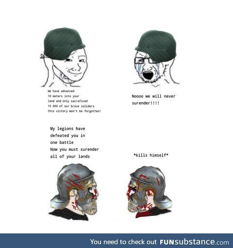 Modern warfare vs ancient warfare