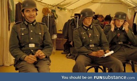 English spy infiltrated in the German army disguised as a German soldier