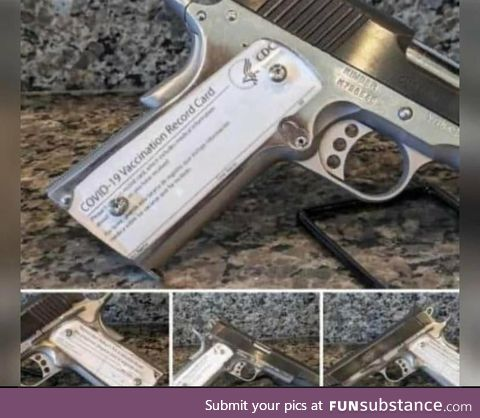 US government putting Covid vaccination cards in guns so their citizens don't forget them