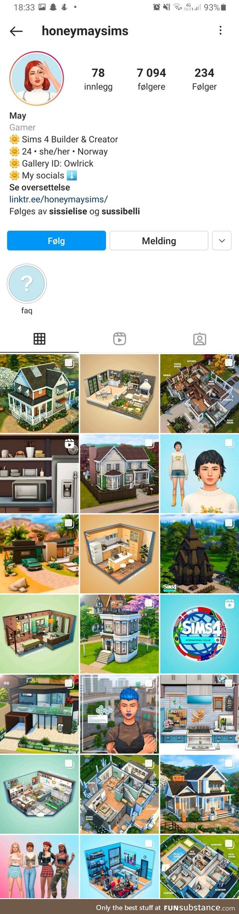 Anyone else who love sims? Found this profile. Great inspiration