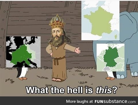 Charlemagne is Crying on his grave