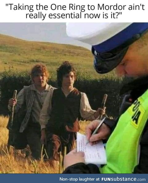 You go'a loicense fo'that magical ring of power o'yours, mate?