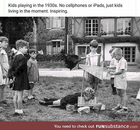 French kids loving life