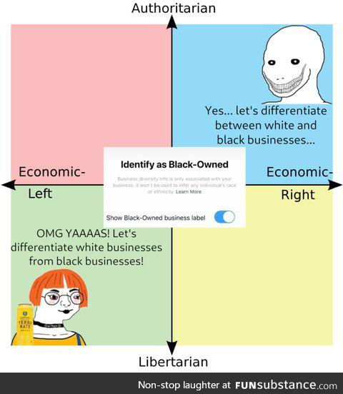 Racial segregation is back on the menu, boys