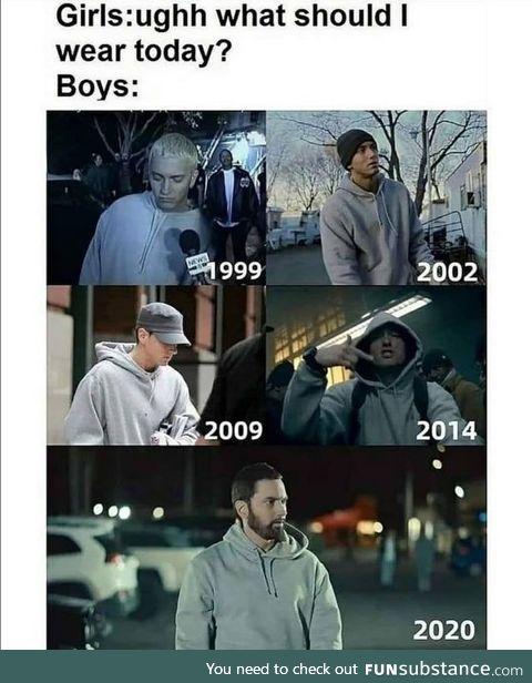Eminem is a fashion icon