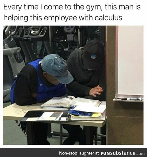 Helping employee with calculus