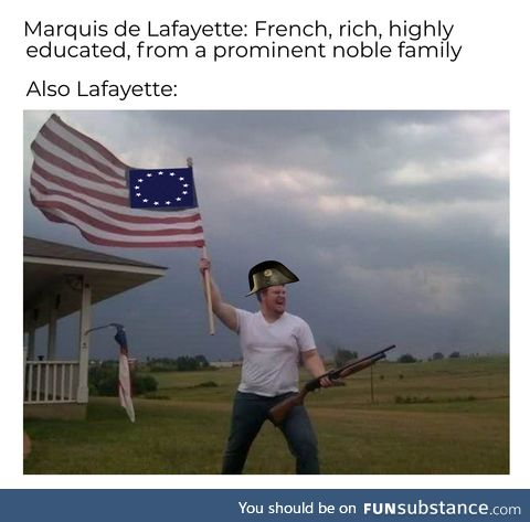 Lafayette really bled Red, White, & Blue