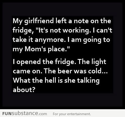 Fridge note