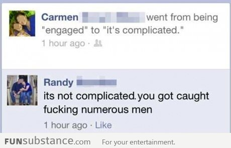 "How Carmen went from being engaged to ""its complicated"""