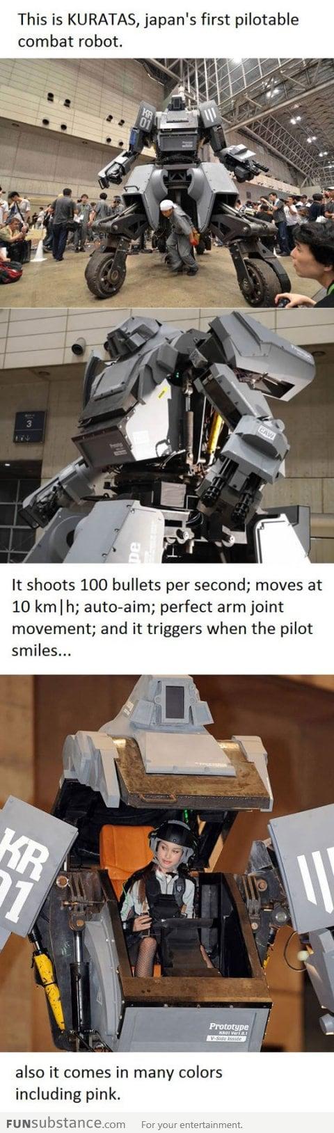 Japan's first combat robot