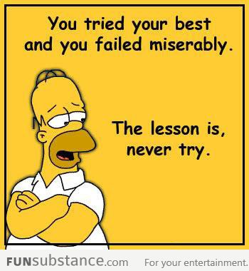 Homer's life advice