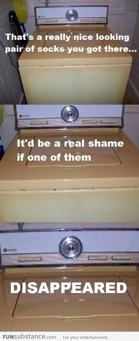 Suspicious washing machine